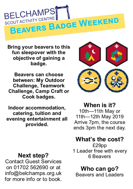 Beaver badge weekend 2019
